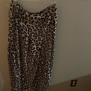Victoria's Secret sheer cheetah print pants